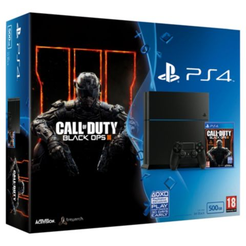 ffb0634e37d1b Playstation 4 500GB Bundle with Call of Duty  Black Ops III. Posted on 11th  November 2015 17th October 2017 by James Forbes. 🔍. £349.99
